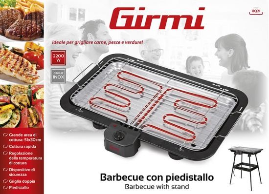 Barbecue with stand Girmi BQ21 - 4