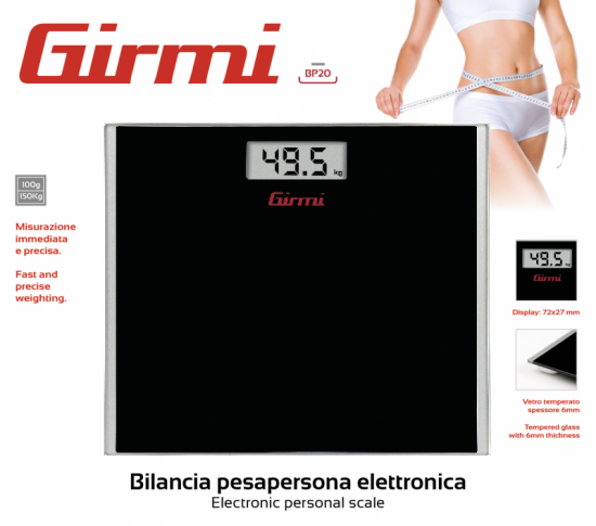 Bilancia pesapersona elettronica Girmi BP20 - HD7